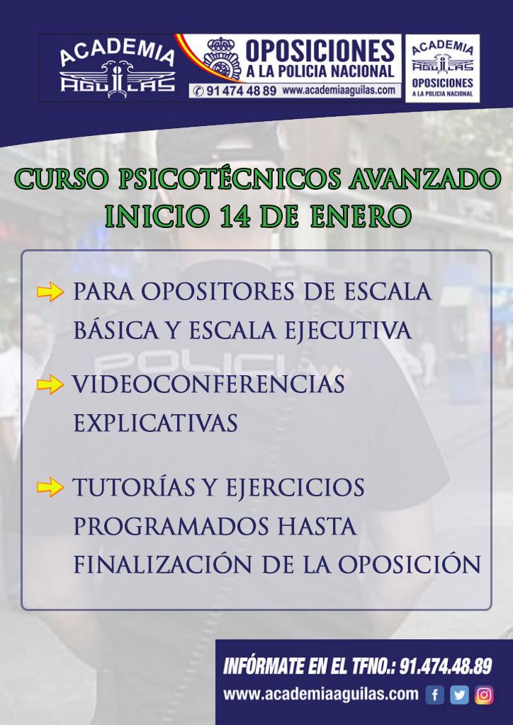 CURSO PSICOTÉCNICOS AVANZADO  INICIO 14 DE ENERO