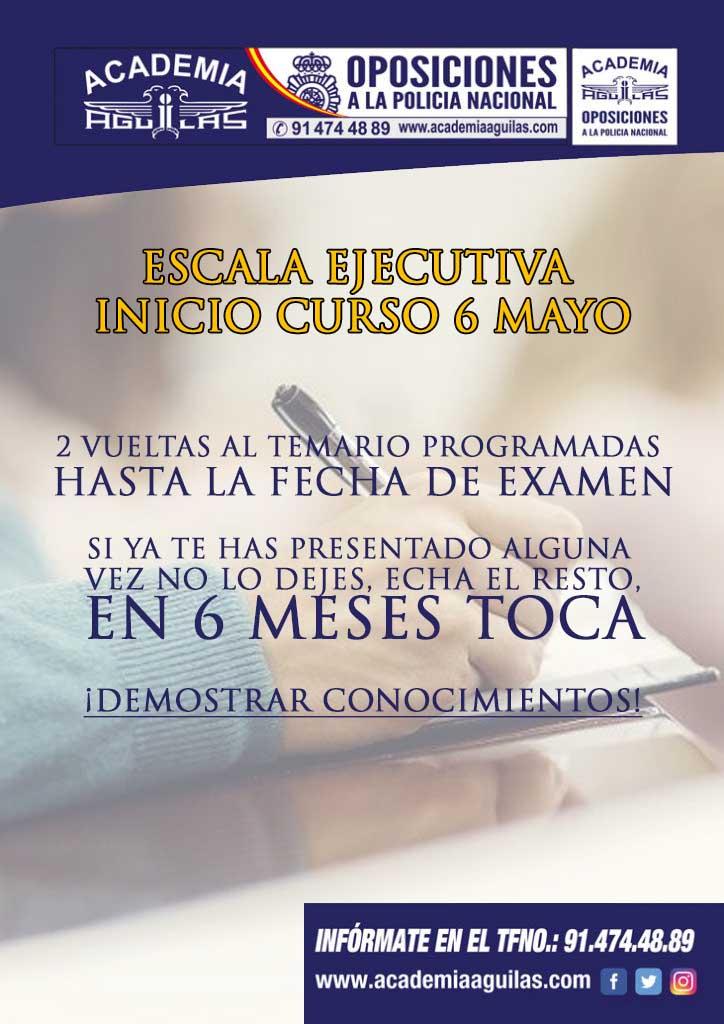 ESCALA EJECUTIVA INICIO CURSO 6 MAYO