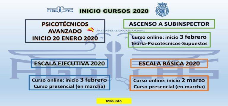 INICIO CURSOS 2020