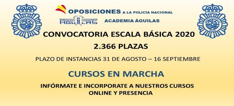 PUBLICADA OPOSICION LIBRE ESCALA BASICA 2.366 PLAZAS