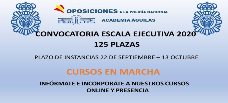 PUBLICADA OPOSICION LIBRE ESCALA EJECUTIVA 125 PLAZAS